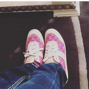 Shoes - 100% Louis Vuitton Denim Pink Monogram